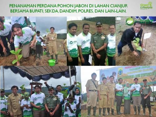 Penanaman Perdana Pohon Jabon Di Lahan Cianjur