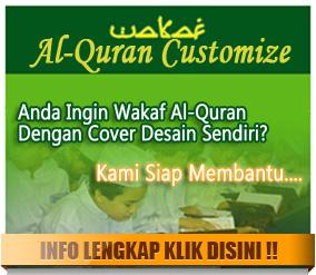 Buat cover Al Qur'an wakaf berbagai penerbit